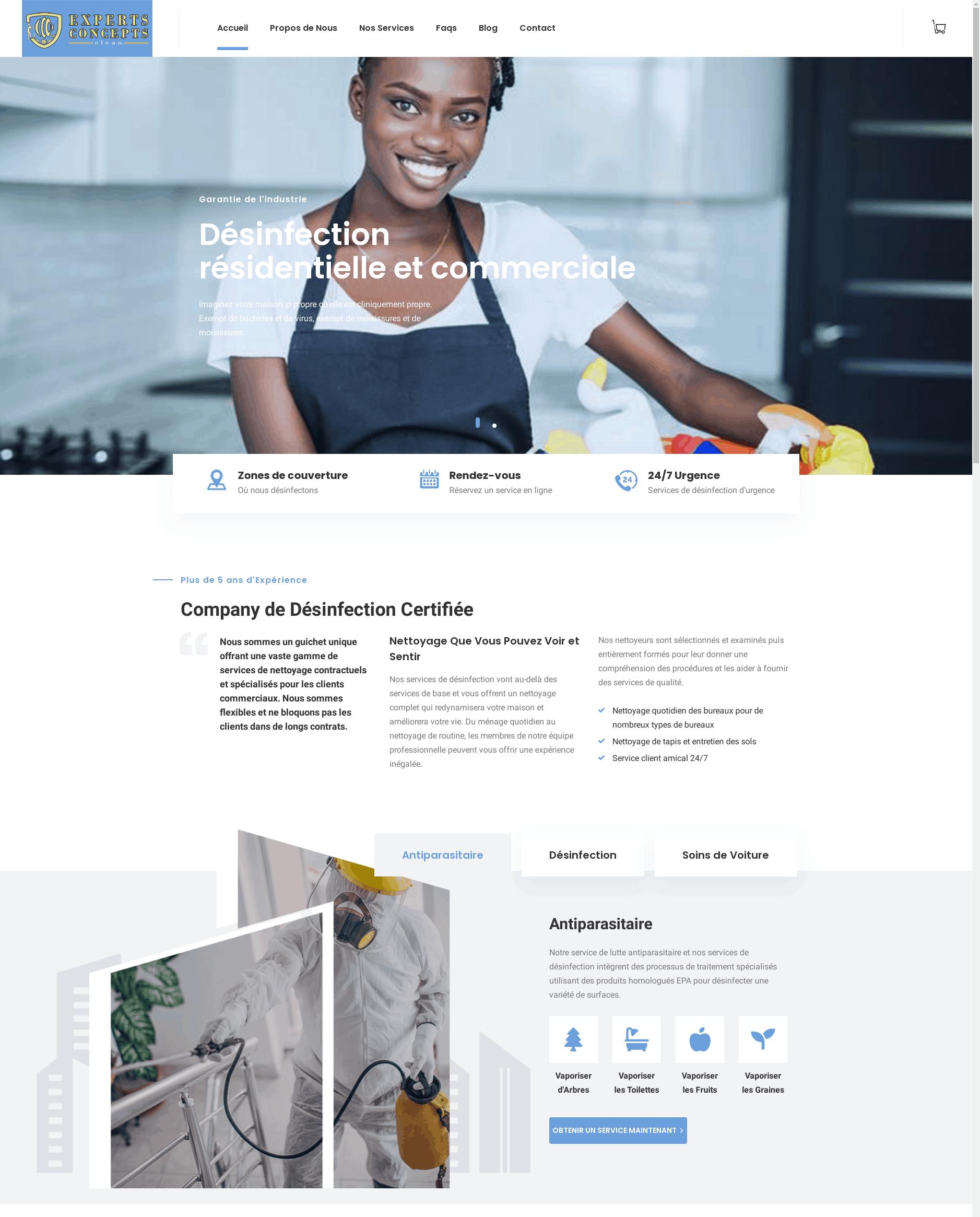 Clean – Experts Concepts – Désinfection résidentielle et commerciale